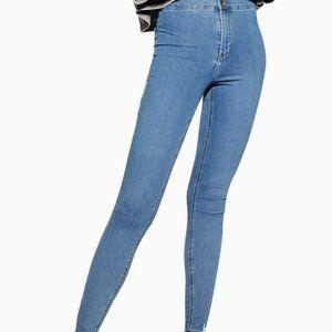 "TOPSHOP | Joni"" Moto Super Skinny Stretch Jean"